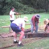 22 End of January 2004 we added gardens using old railway sleepers for edging