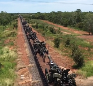 Military train movement up north