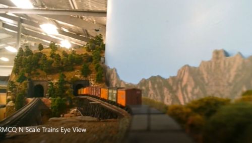 N Scale Upper Deck Train's eye view